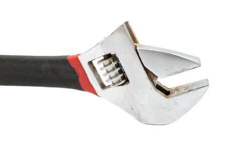 Adjustable Wrench (Spanner) on White Background photo