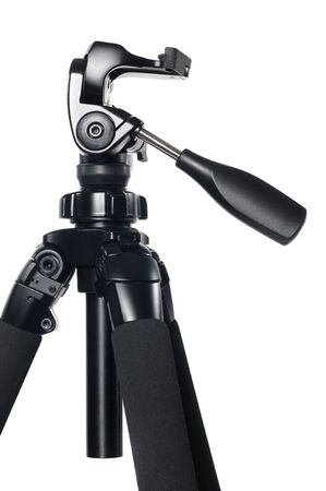 Camera Tripod (Stand) on White Background photo