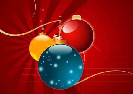 christmassy: Magic Christmas Background in Red Colors Stock Photo