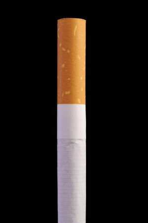 Cigarette on Black Background Stock Photo