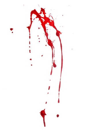 blood drops: Red Paint Splashes on White Background