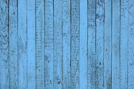 Blue Painted Wooden Wall photo