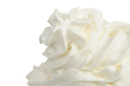 cream: Soft Vanilla Ice-Cream on White Background