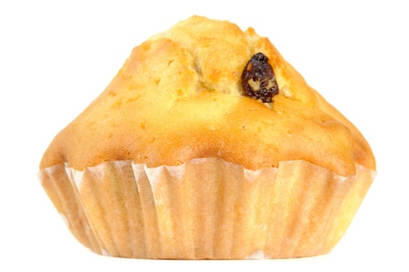 craving: Raisin Muffin Isolated on White Background