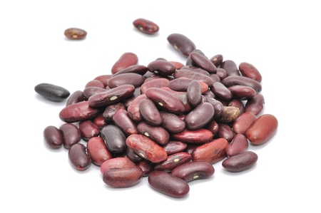 Red Kidney Beans Isolated on White Background photo