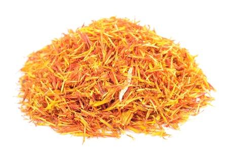 ersatz: Safflower (Substitute for Saffron) Isolated on White Background