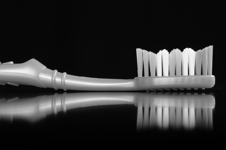 Toothbrush on Black Background photo