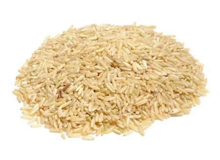 arroz blanco: Arroz Aislado sobre fondo blanco