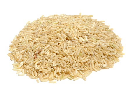 Brown Rice Isolated on White Background photo