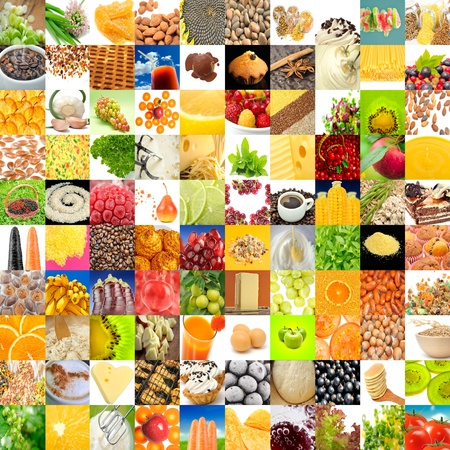 Big Collection of Food  Set of 100 Images  Stock Photo