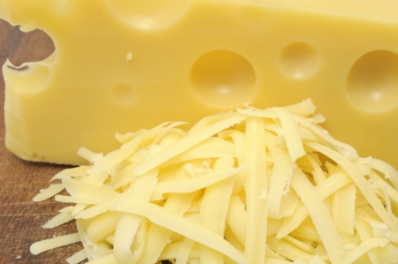 grated: Grated Cheese and Chunk of Cheese