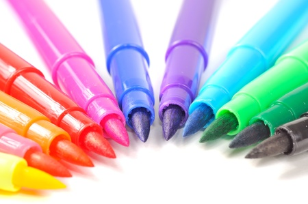 Multicolored Felt Tip Pens photo