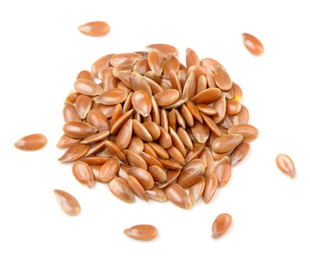 Brown Flax Seeds Close-Up Stock Photo