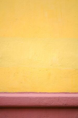 Yellow Concrete Wall as Background photo