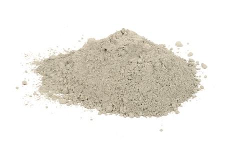 cemento: Pila de cemento Aislado sobre fondo blanco