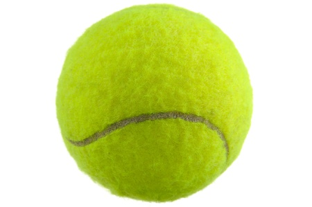 recreational sports: Tennis Ball Isolated on White Background Stock Photo