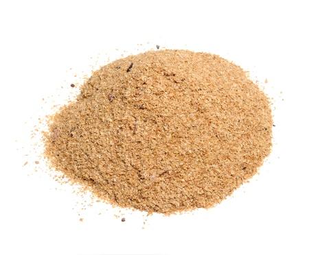Wheat Bran Isolated on White Background photo