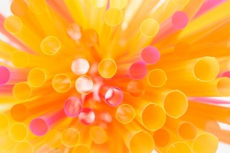 atilde: Multicolored Drinking Straws
