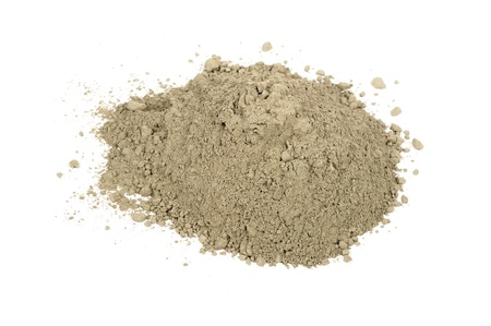 powdery: Pile of Cement Isolated on White Background