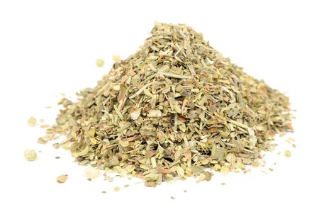 Herbes de Provence (Mixture of Dried Herbs) Isolated on White Background Standard-Bild