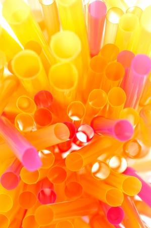 atilde: Colorful Drinking Straws Stock Photo