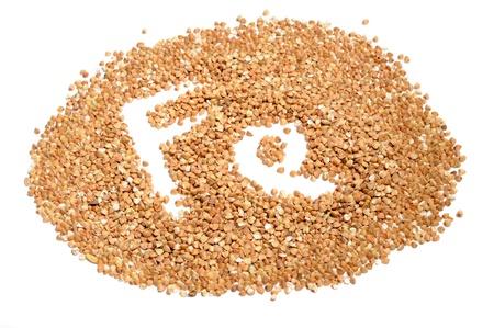 fe: Buckwheat Groats – Good Source of Iron (Fe) Stock Photo