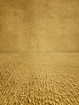 Coarse Textured Stucco Room as Background photo
