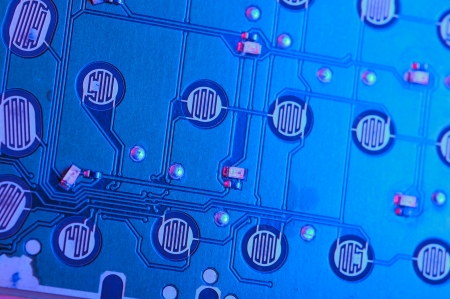 Blue Circuit Board photo