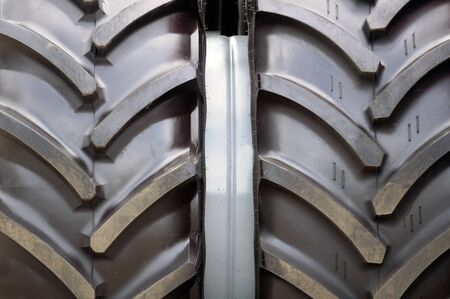 Tractor Tyre (Tire) Close-Up Stock Photo - 16015565