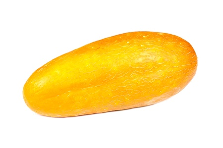 overripe: Overripe Yellow Cucumber Isolated on White Background