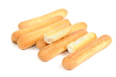 breadstick: Breadsticks Isolated on White Background Stock Photo