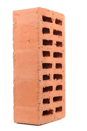 Red Perforated Brick Isolated on White Background Stock Photo - 16015564