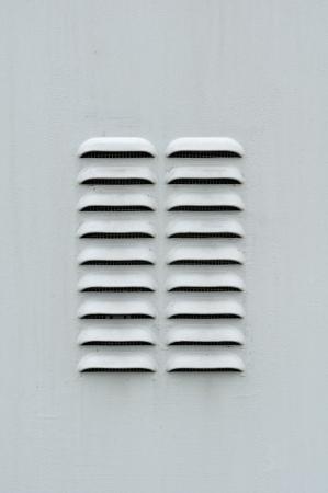 damper: Gray Metal Ventilation Louver