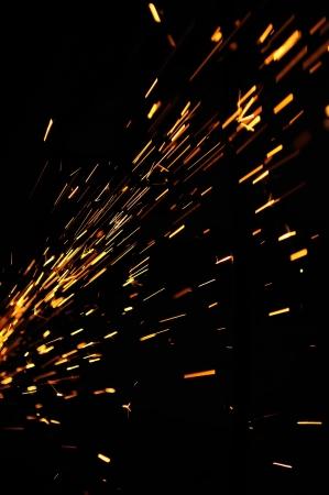 Flowing Sparks Standard-Bild