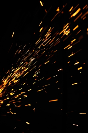 Flowing Sparks Stock Photo