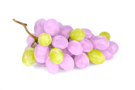 Purple and Green Grapes Isolated on White Background Stock Photo - 16212953