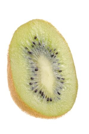 Kiwi Cut in Half Isolated on White Background photo