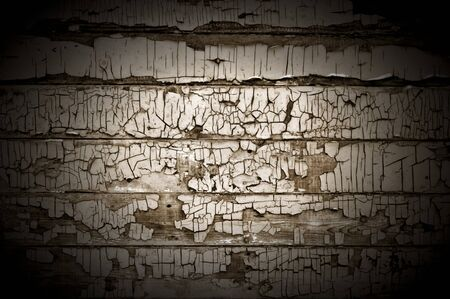 crackles: Dark Cracked Wood Background Texture With Spotlight Stock Photo