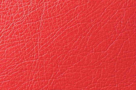 bumped: Scarlet Red Faux Leather Texture Stock Photo