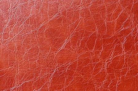 Red Wrinked Artificial Leather Background Texture  photo