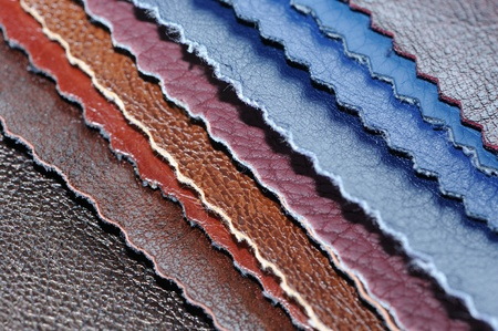 leatherette: Artificial Leather Samples Stock Photo
