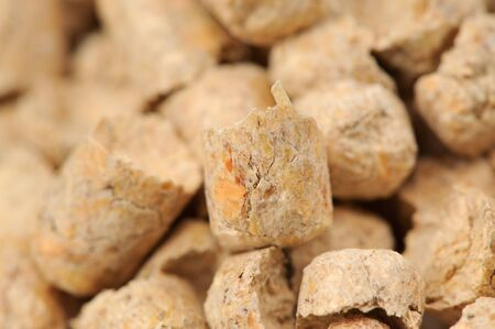 wood pellet: Pellets de madera (pino) Cat Litter Close-Up Foto de archivo