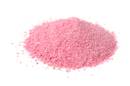 Raspberry Juice Powder Concentrate Isolated on White Background