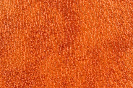 bumped: Dark Orange Patterned Leather Texture Stock Photo