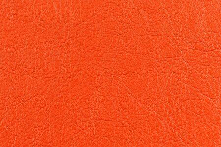 Bright Orange Leather Background Texture photo