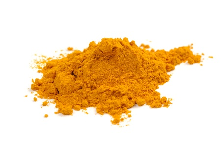 Turmeric (Curcuma) Powder Isolated on White Background