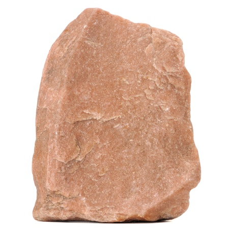 Red Granite Stone Isolated on White Background photo