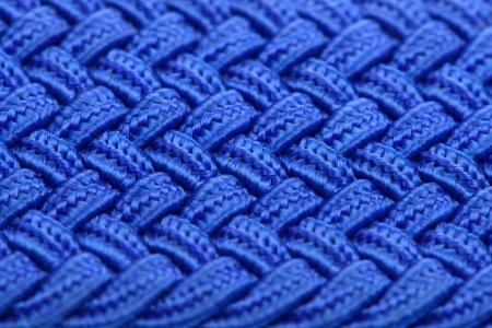 extreme macro: Blue Interwoven Fabric Texture