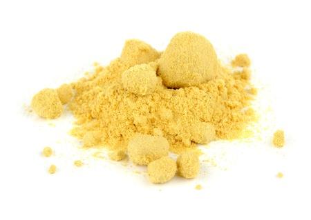 Mustard Powder Isolated on White Background Stock Photo - 19023794