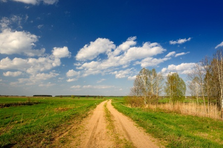 Dirt Road in Countryside photo
